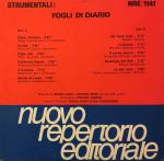 Bruno Lauzi and Antonio Sechi - Strumental - Fogli di diario (1988) Fonit Cetra (NRE 1141)