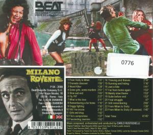 Carlo Rustichelli - Milano Rovente OST (2008) Beat Records Company [Italy] (CDCR 85) CD back