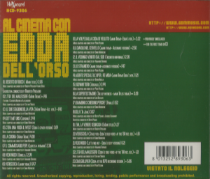 Edda Dell'Orso – Al Cinema Con Edda Dell'Orso (2002) [Italy] (HCD-9306) back