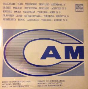 Incalzante - Cupo - Angoscioso - Thrilling - Agitato (N. 2) (1972) CAM Records (CML 008)