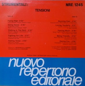 Jay Richford, Gary Stevan, and Stefano Torossi - Strumentali - Tensioni (1989) Nuovo Repertorio Editoriale [Italy] (NRE 1245) [Feelings]