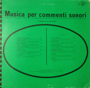 Amedeo Tommasi and Stefano Torossi - Musica per commenti sonori: L'uomo e la natura (1986) Costanza Records