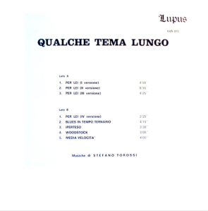 Stefano Torossi- Qualche Tema Lungo (1971) [Italy] (LUS 215) back