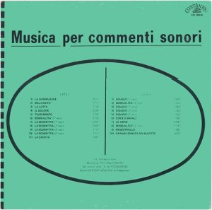 Stefano Torossi - Musica Per Commenti Sonori (1971) Costanza Records [Italy] (CO 10010)