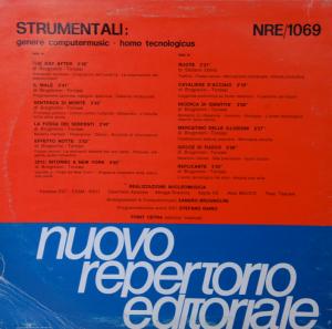 Strumentali - Genere Computermusic - Homo Tecnologicus (1986) Nuovo Repertorio Editoriale [Italy] (NRE 1069)