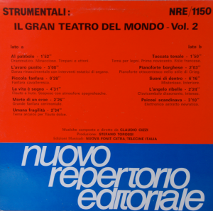 Claudio Gizzi - Strumentali - Il Gran Teatro Del Mondo Vol. 2 (1988) Nuovo Repertorio Editoriale [Italy] (NRE 1150)