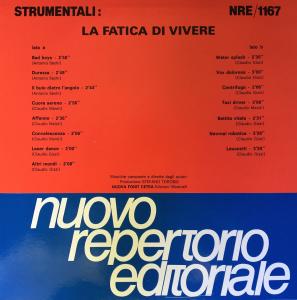 Strumentali: La fatica di vivere (1988) Fonit Cetra (NRE 1167)