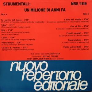 Claudio Gizzi - Strumentali: Un milione di anni fa (1987) Fonit Cetra (NRE 1119)
