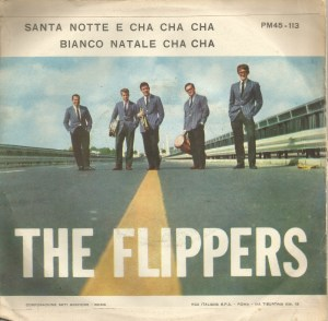 "The Flippers -"" Santa Notte E Cha Cha"" and ""Bianco Natale Cha Cha"" (1960) RCA Camden [Italy] (CP 113) back"
