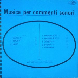 Vito Tommaso and Stefano Torossi - Musica Per Commenti Sonori (1969) Costanza Records [Italy] (CO 10004)
