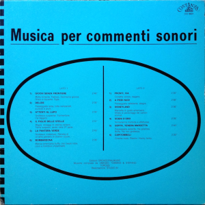 Amedeo Tommasi and Stefano Torossi - Musica per commenti sonori Costanza Records [Italy] CO 8601