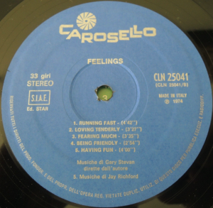 Jay Richford and Gary Stevan - Feeings (1974) Carosello label B
