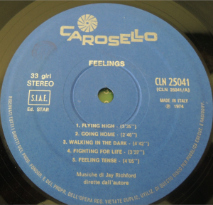 Jay Richford and Gary Stevan - Feeings (1974) Carosello label