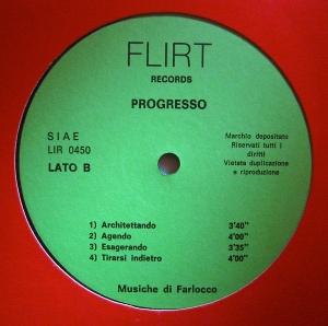 Farlocco - Progresso (1975) Flirt Records LIR 0450