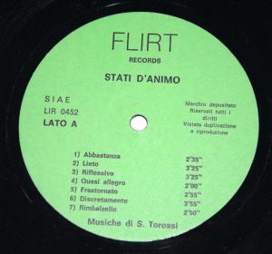 Stefano Torossi - Stati d'animo (1975) Flirt Records LIR 0452