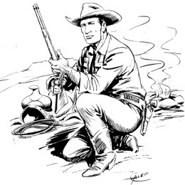 Tex Willer (drawing by Aurelio Galleppini)