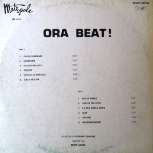 Stefano Torossi & Beppe Carta - Ora Beat! (early 1970s) Metropole Records back