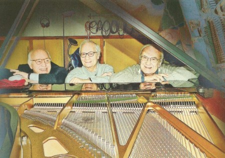 a recent shot of Roberto Podio, Antonello Vannucchi, and Maurizio Majorana (photo by Massimiliano D'Affronto from Musica Leggera)