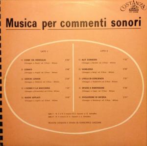 Giancarlo Gazzani - Musica per commenti sonori (1973) Costanza Records (CO 10008)