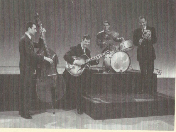 Maurizio Majorana, Carlo Pes, Roberto Podio, and Marcello Rosa performing on TV in the 1960s (photo for CD booklet)