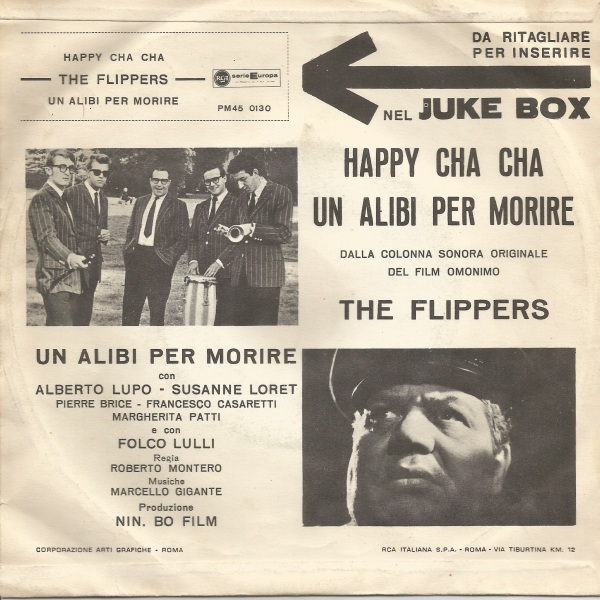 The Flippers - Happy Cha Cha and Un alibi per morire (1961) RCA 45 back
