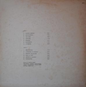 Paolo Ormi - Tastiere (1974) Jubal back
