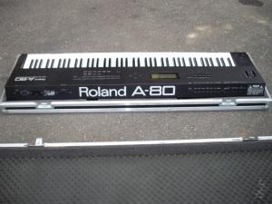 a Roland A80 MIDI keyboard