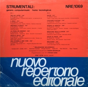 Sandro Brugnolini and Stefano Torossi - Strumentali - Genere computermusic - homo tecnologicus (1986) Fonit Cetra