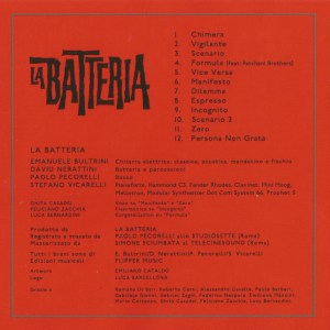 La Batteria (2015) Penny Records CD back