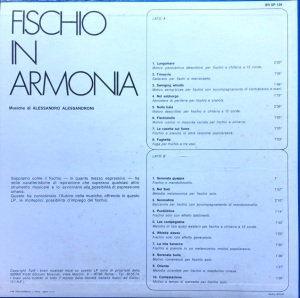 Alessandro Alessandroni - Fischio In Armonia (1970) SR Records back