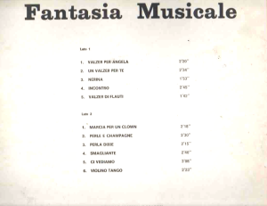 Beppe Carta and Stefano Torossi - Fantasia Musicale (early 1970s) Metropole Records back