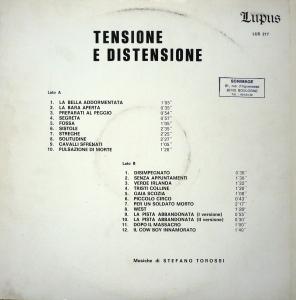 Stefano Torossi - Tensione e distensione (1970s) Lupus Records back