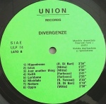 Divergence (1970s) Union Records (ULP 74)