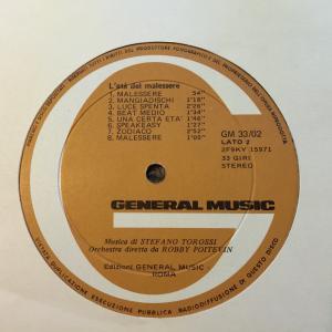 Stefano Torossi - L'eta del malessere (1968) General Music label