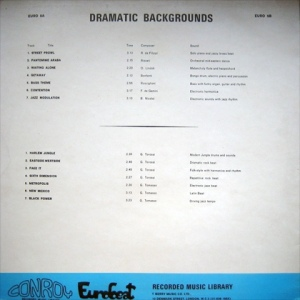 Dramatic Backgrounds (1970s) Conroy Eurobeat back