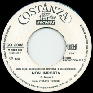 Stefano Torossi - Non importa (1968) Costanza Records Label A