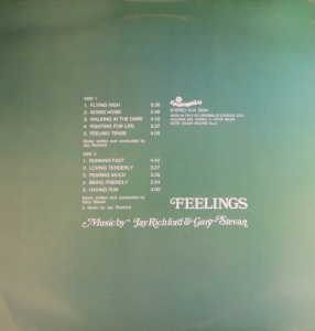 Jay Richford and Gary Stevan - Feelings (1974) Carosello back