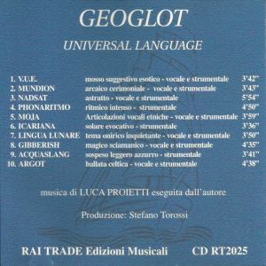 Luca Proietti - Geoglot : Universal Language (1999) Rai Trade back