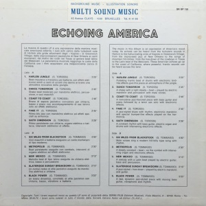 Giovanni Tommaso and Stefano Torossi - Echoing America (1970) SR Records back