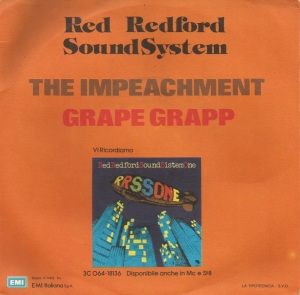 Red Redford Sound System - The Impeachment (1975) Odeon back