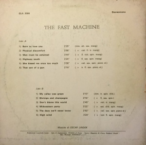 The Fast Machine - The Fast Machine (1972-1973) Picci back