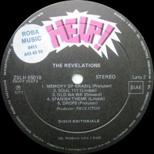 The Revelations (1971) Help! label