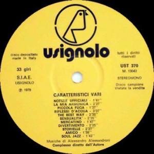 Alessandro Alessandroni - Caratteristici vari (1979) Fonit Usignolo label