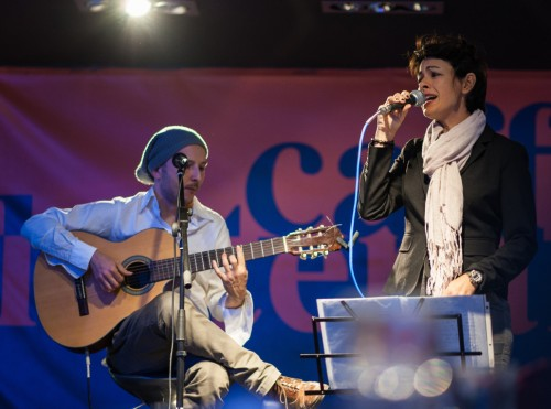 Federico Ferrandina and Sirsa Shekim performing live in Rome