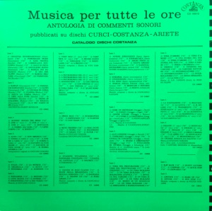Stefano Torossi - Musica per commenti sonori (1971) Costanza Records (CO 10010) back