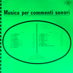 Stefano Torossi - Musica per commenti sonori (1971) Costanza Records (CO 10010)