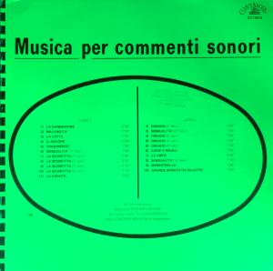 Stefano Torossi - Musica per commenti sonori (1971) Costanza Records (CO 10010)