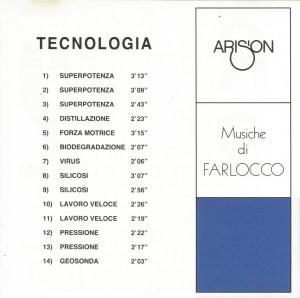 Farlocco - Tecnologia (2009 Arison Reissue) Rotary Records (1974) back