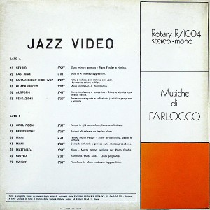The Swingers - Jazz Video Musiche di Farlocco (1974) Rotary Records back
