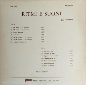 Vasco - Ritmi e suoni (1973) Picci Records back